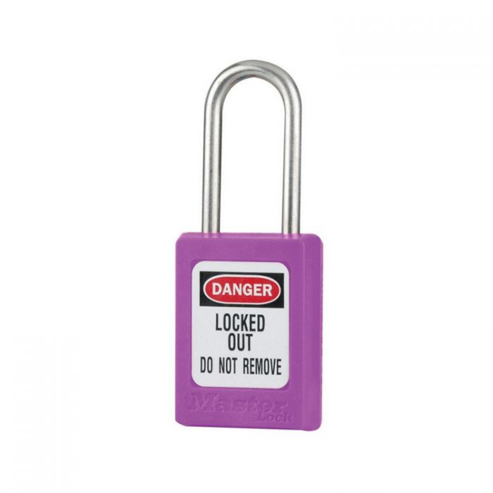 Lockout/tagout : LOTO hengelås lilla 10S31PRP : BSafe Systems AS