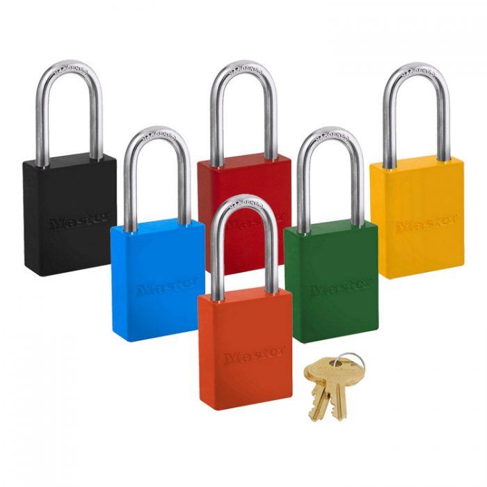Lockout/tagout : aluminium hengelås 106835LF : BSafe Systems AS