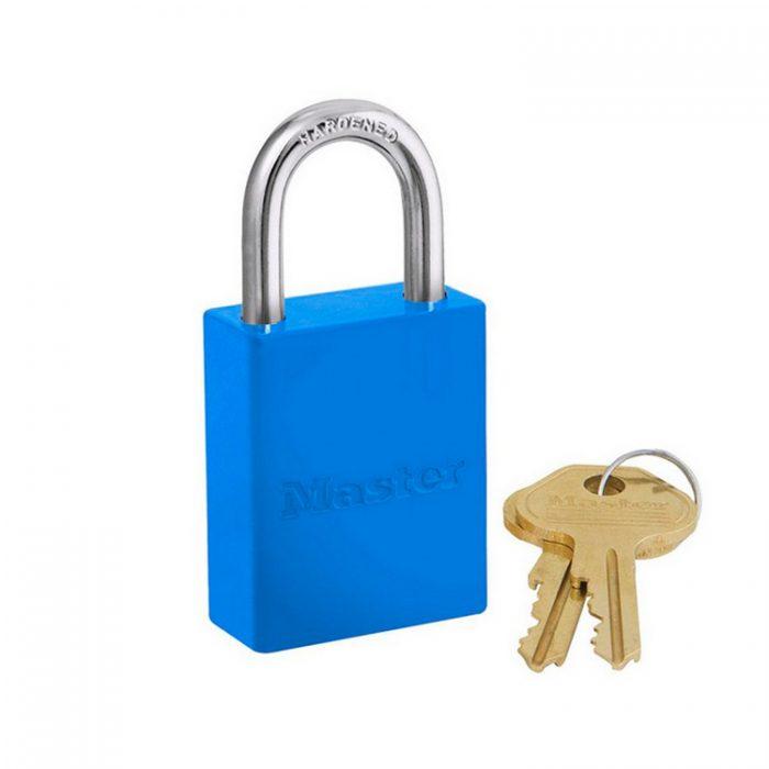 Lockout/tagout : aluminium hengelås blå 106835BLU : Bsafe Systems AS