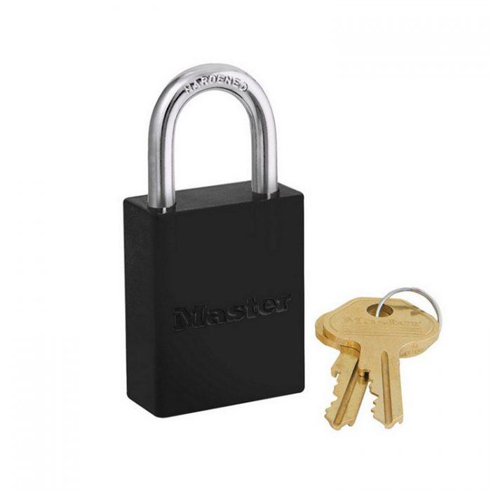 Lockout/tagout : aluminium hengelås sort 106835BLK : Bsafe Systems AS