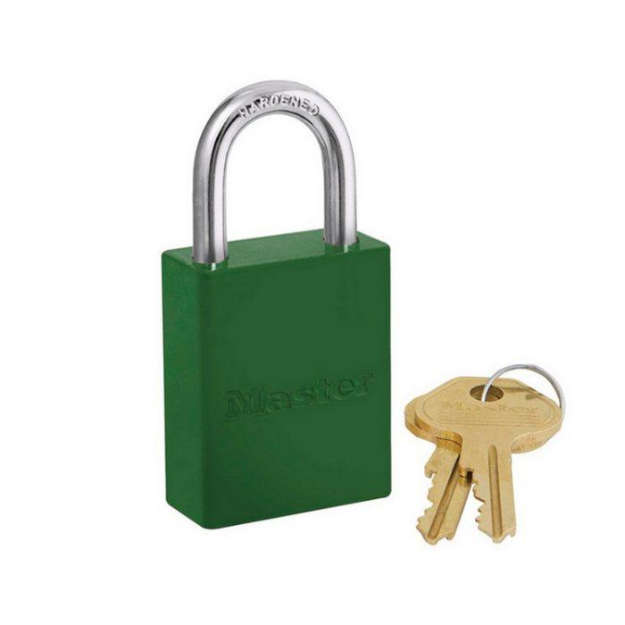 Lockout/tagout : aluminium hengelås grønn 106835GRN Bsafe Systems AS
