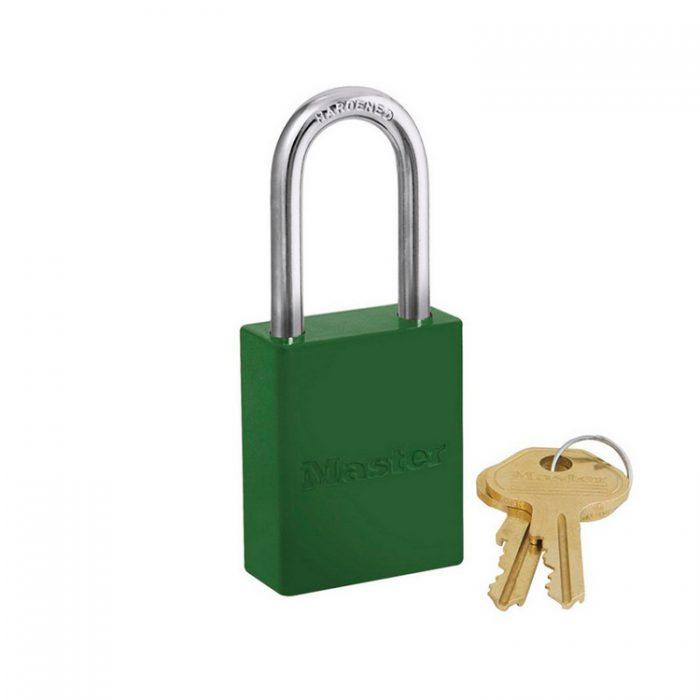 Lockout/tagout : aluminium hengelås grønn 106835LFGRN : BSafe Systems AS