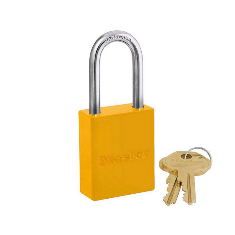 Lockout/tagout : aluminium hengelås gul 106835LFYLW : BSafe Systems AS