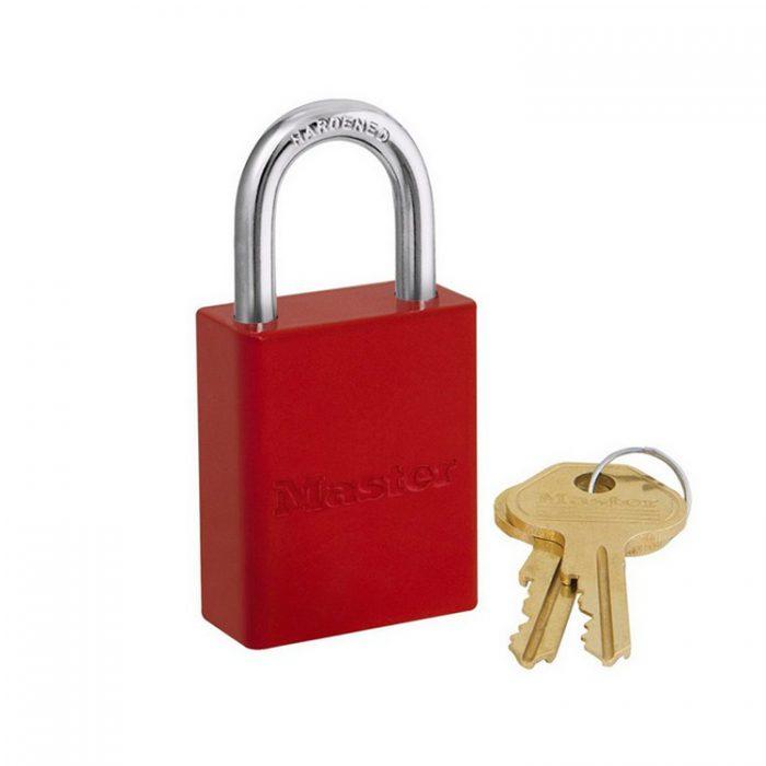 Lockout/tagout : aluminium hengelås rød 106835RED : Bsafe Systems AS