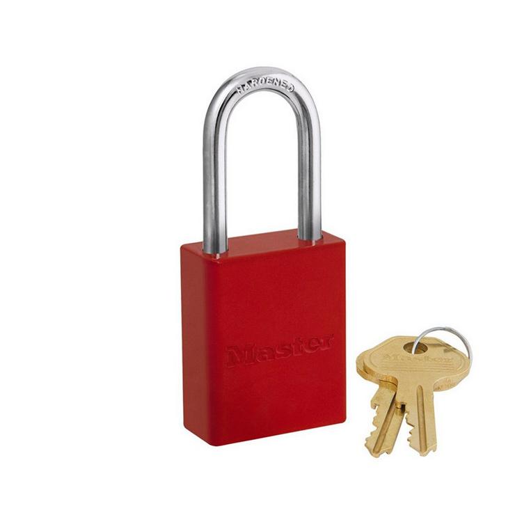 Lockout/tagout : aluminium hengelås rød 106835LFRED : BSafe Systems AS