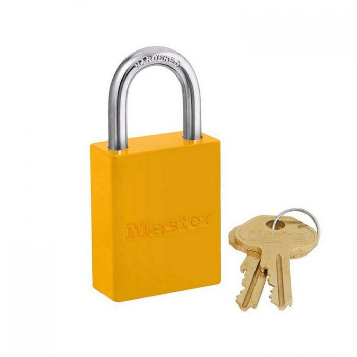 Lockout/tagout : aluminium hengelås gul 106835YLW : Bsafe Systems AS
