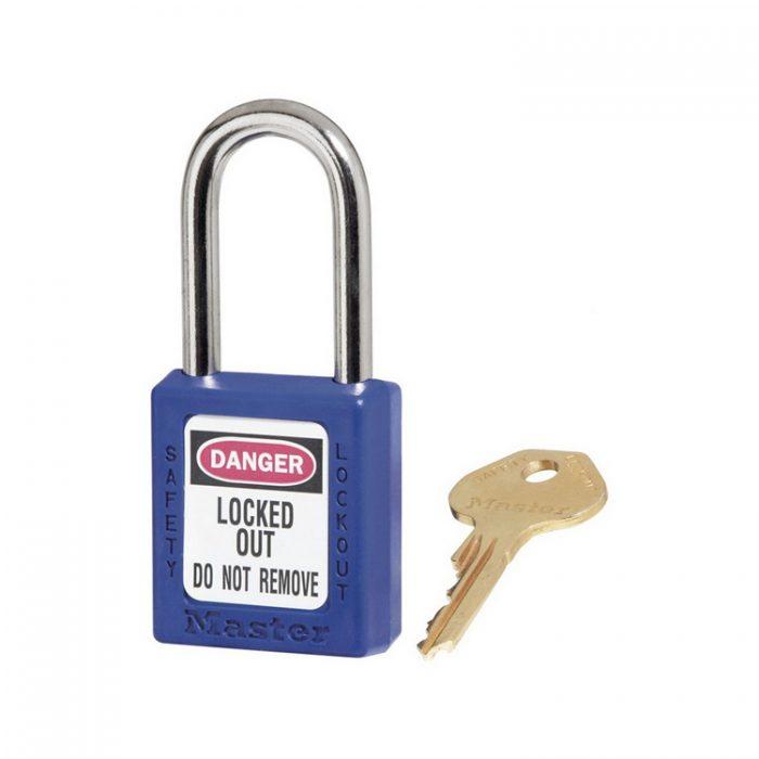 Lockout/tagout : hengelås blå 10410BLU : BSafe Systems AS