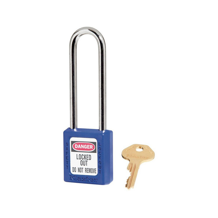 Lockout hengelås blå : Masterlock 10410LTBLU : BSafe Systems AS