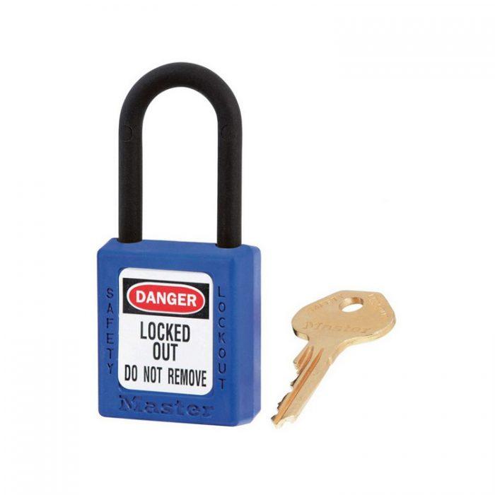 Lockout/tagout : hengelås blå ikke ledende 10406BLU : BSafe Systems AS