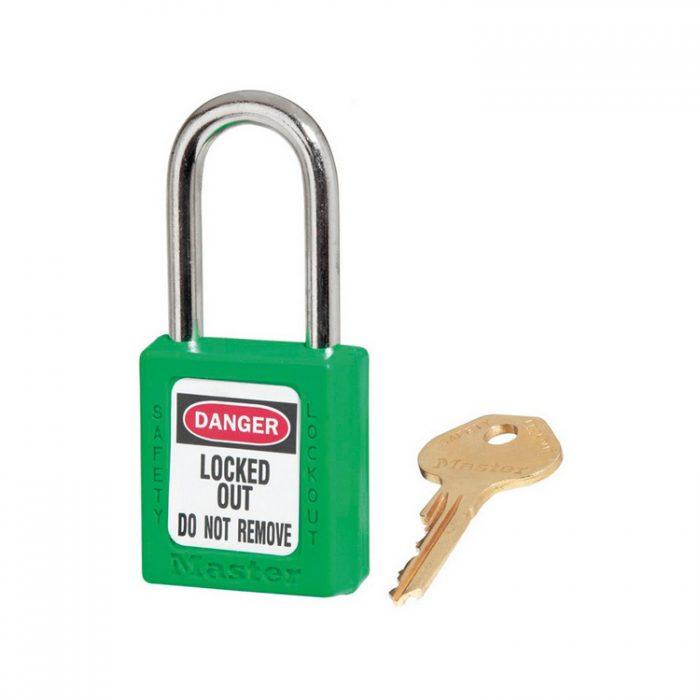 Lockout/tagout : hengelås grønn 10410GRN : BSafe Systems AS
