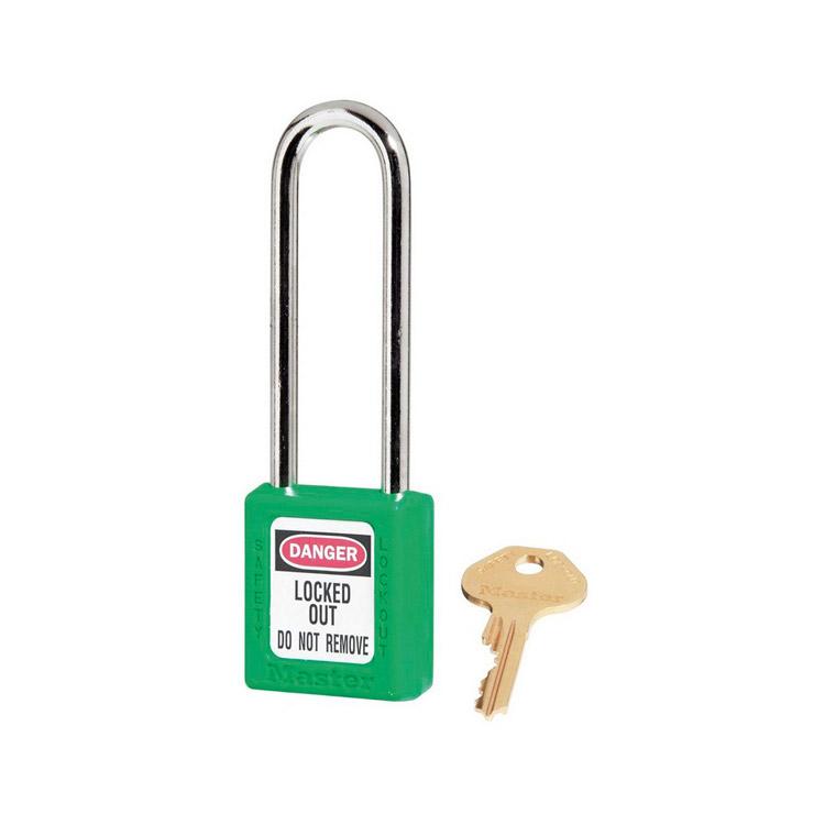 Lockout/tagout : hengelås grønn 10410LTGRN : BSafe Systems AS
