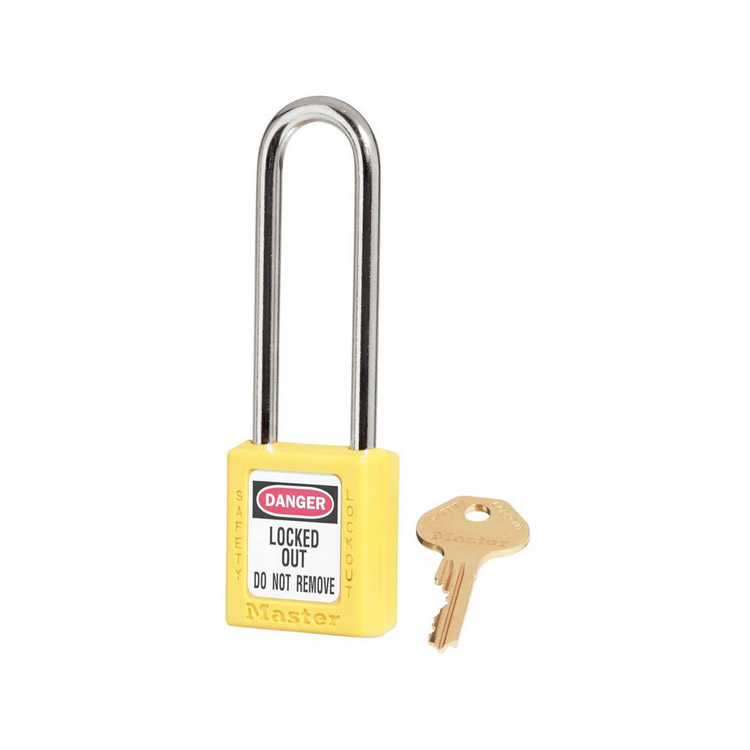 Lockout/tagout : hengelås gul 10410LTYLW : BSafe Systems AS