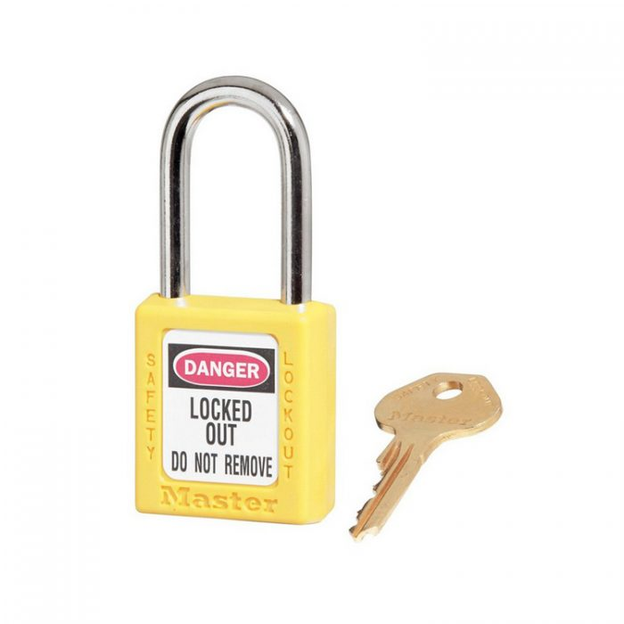 Lockout/tagout : hengelås gul 10410YLW : BSafe Systems AS