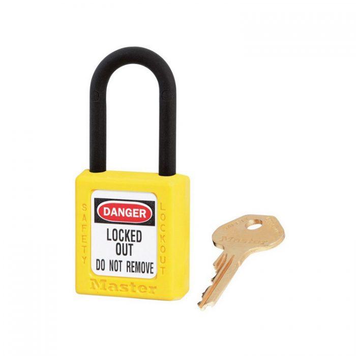 Lockout/tagout : hengelås gul ikke ledende 10406YLW : BSafe Systems AS