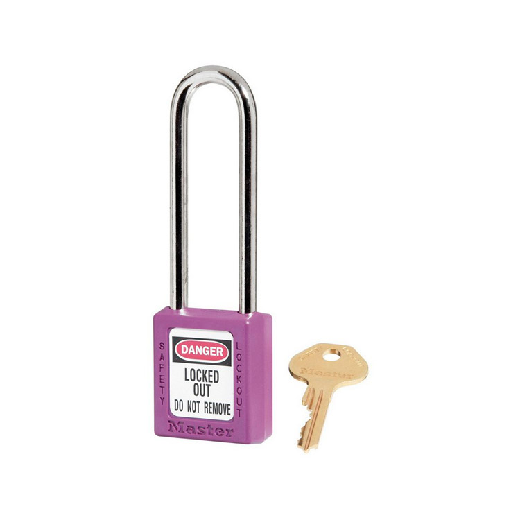 Lockout/tagout : hengelås lilla 10410LTPRP : BSafe Systems AS