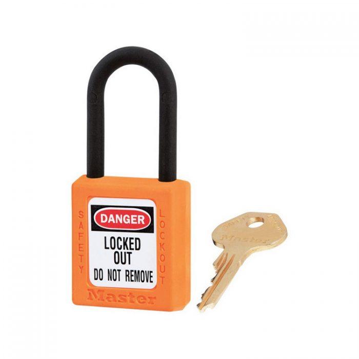 Lockout/tagout : hengelås oransje ikke ledende 10406ORJ : BSafe Systems AS