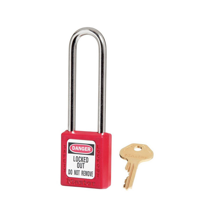 Lockout/tagout : hengelås rød 10410LTRED : BSafe Systems AS