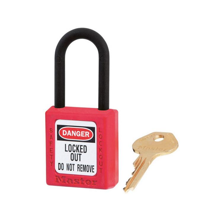 Lockout/tagout : hengelås rød ikke ledende 10406RED : BSafe Systems AS