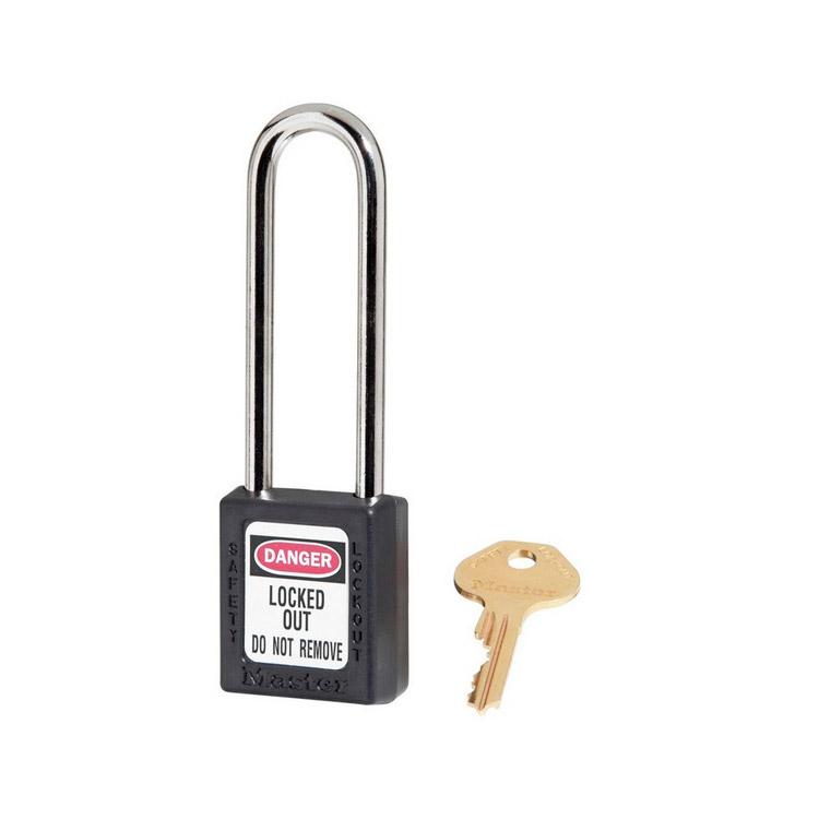 Lockout/tagout : hengelås sort 10410LTBLK : BSafe Systems AS