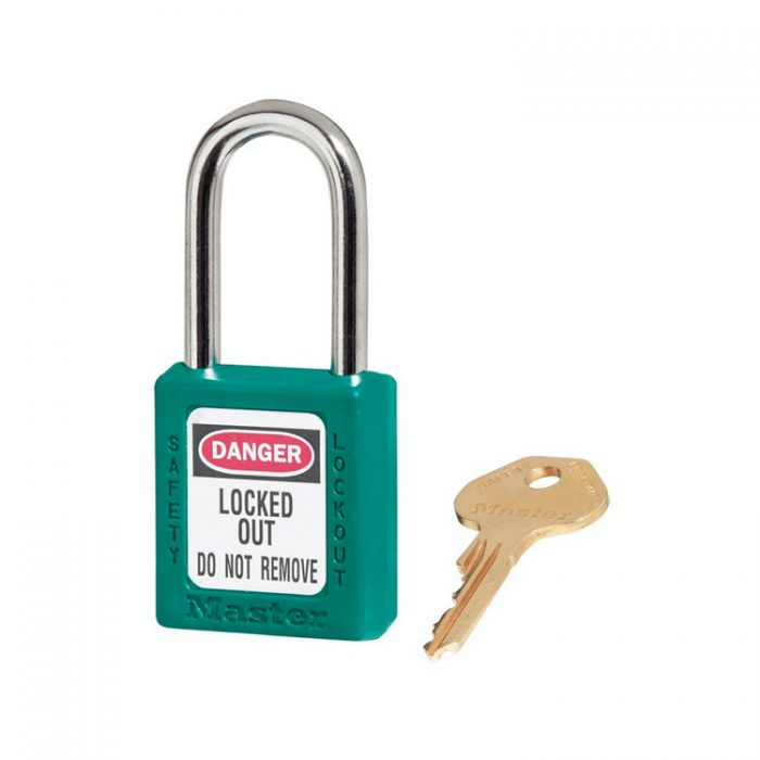 Lockout/tagout : hengelås turkis 10410TEAL : BSafe Systems AS