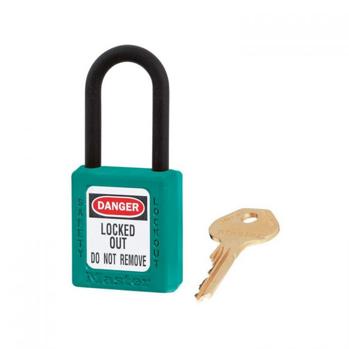 Lockout/tagout : hengelås turkis ikke ledende 10406TEAL : BSafe Systems AS