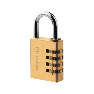 Kodelås messing (4 siffer) : Masterlock 100604 : Bsafe Systems AS