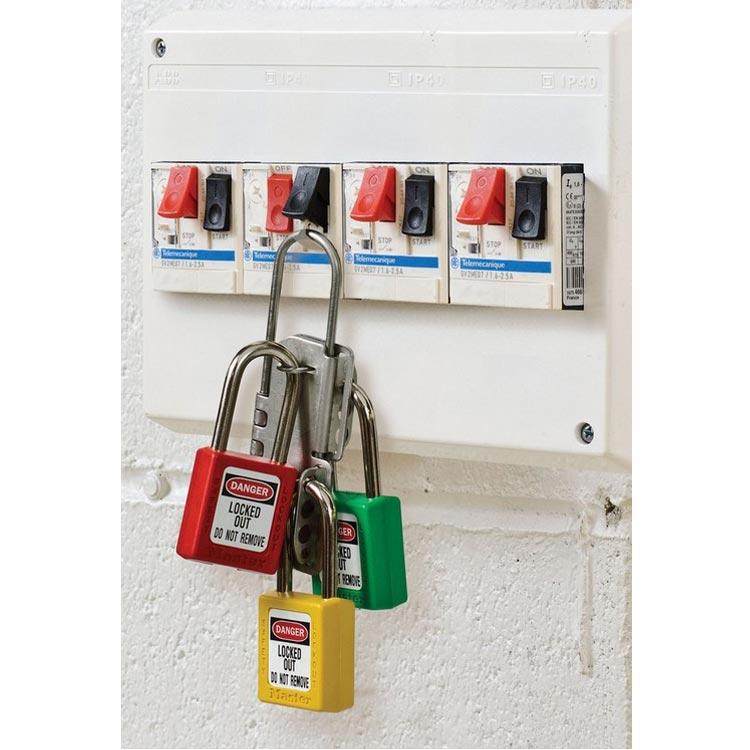 Lockout/tagout : låsbøyle rustfri 10S431 : BSafe Systems AS