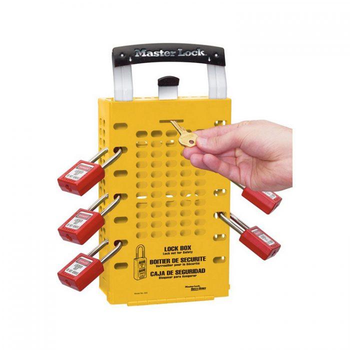 Låseboks gul : Masterlock 100503YLW : Bsafe Systems AS