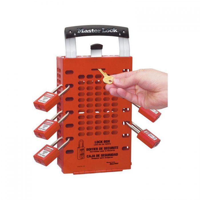 Låseboks rød : Masterlock 100503RED : Bsafe Systems AS