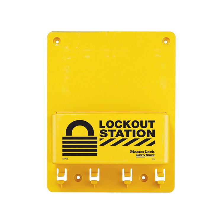 LOTO stasjon Compact uten innhold : Masterlock 10S1700 : Bsafe Systems AS
