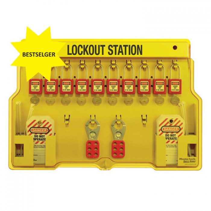 Lockout/tagout : Masterlock loto-skap standard 2 innhold 101483BP : Bsafe Systems AS