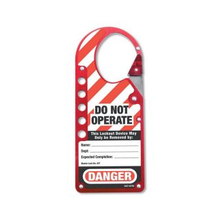 Snap-on bøyle Do not operate : Masterlock 100427 : BSafe Systems AS
