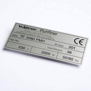 Lasergraverte skilt aluminium : 451000-5 : BSafe Systems AS