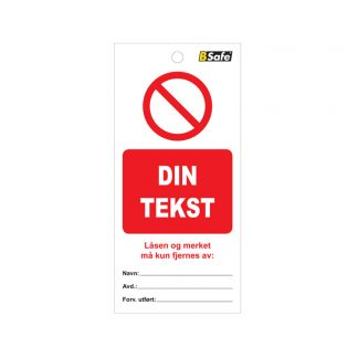 Tag spesial forbud Din tekst : 451774 : Bsafe Systems AS