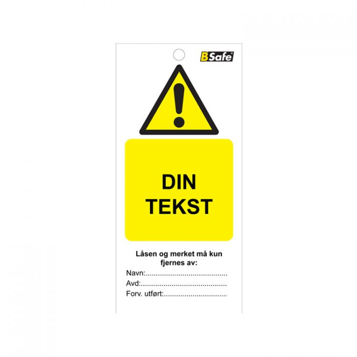 Tags spesial din tekst : 451773 : Bsafe Systems AS