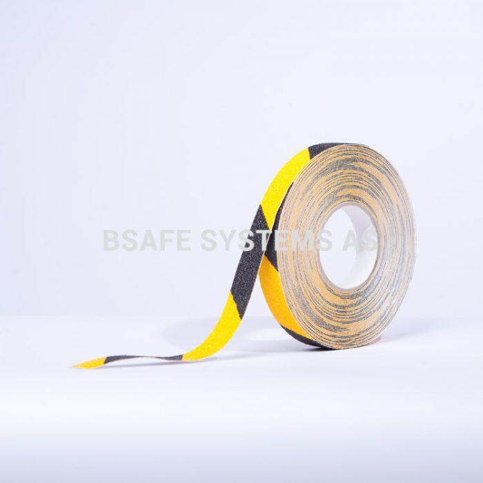 Merking : antiskli tape TA7011 gul sort : Bsafe Systems AS