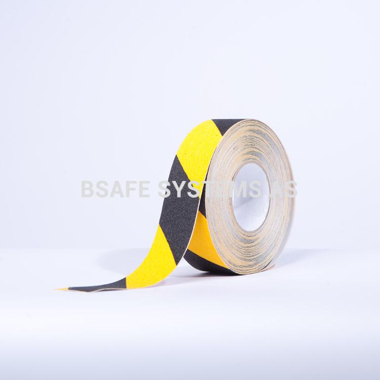 Merking : antiskli tape TA7111 gul sort : Bsafe Systems AS