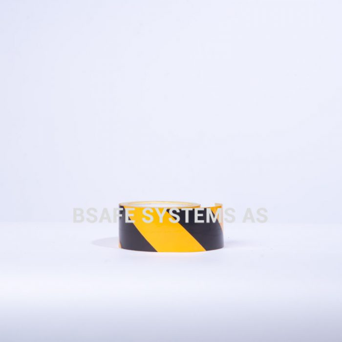 Merking : reflekterende tape sort/gul : 460531 : Bsafe Systems