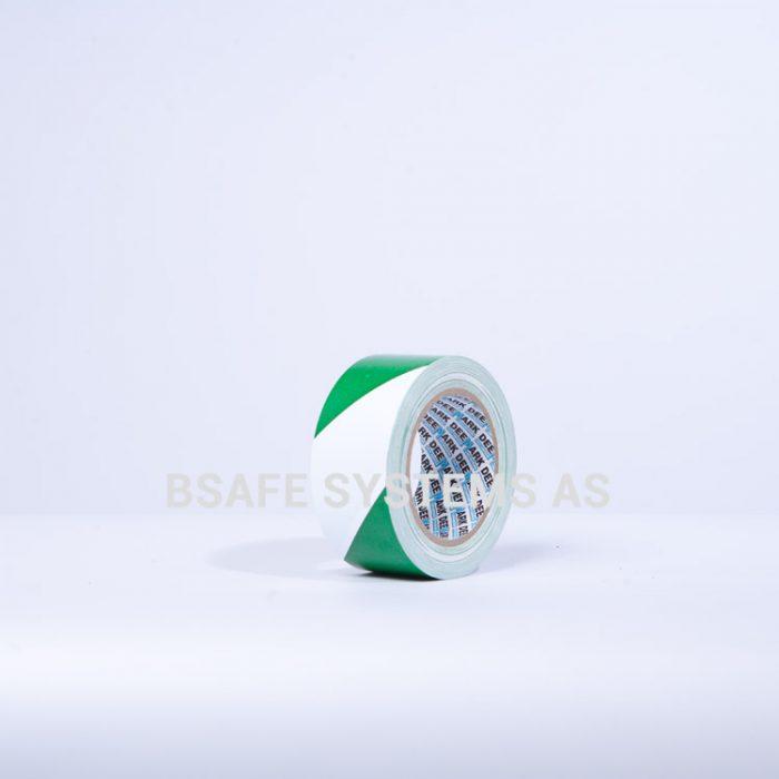 Gulvmerkingstape grønn/hvit : Bsafe Systems AS
