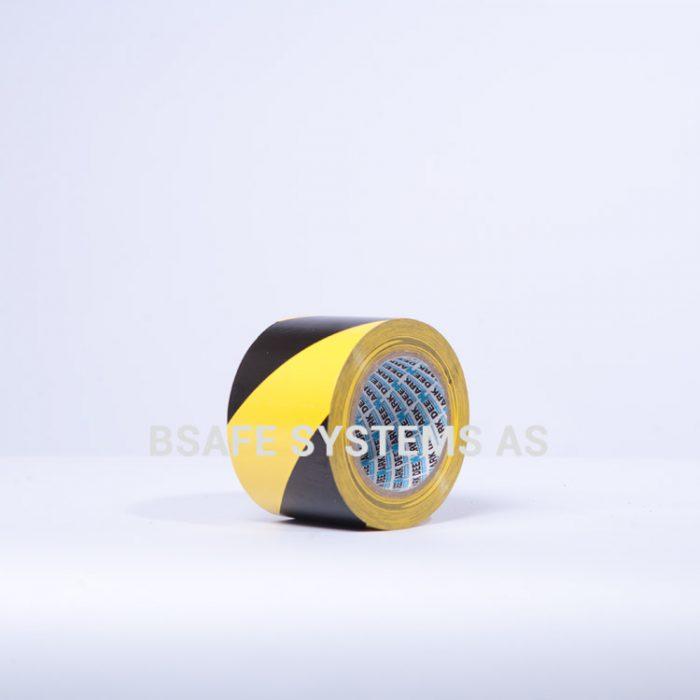 Gulvmerkingstape gul/sort : Bsafe Systems AS