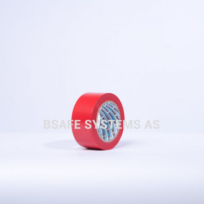 Gulvmerkingstape rød : Bsafe Systems AS