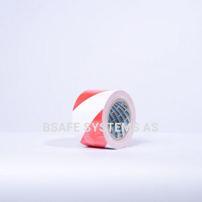 Gulvmerkingstape rød/hvit : Bsafe Systems AS