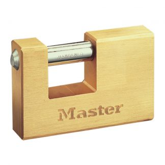 Hengelås messing rektangel : Masterlock 607EURD : Bsafe systems AS