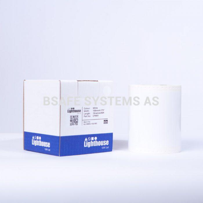 Vinylfolie CPM hvit CPM01 : Bsafe Systems AS