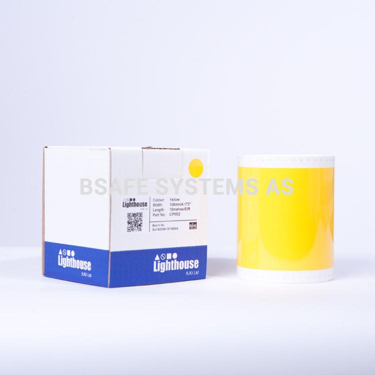 Vinylfolie CPM gul CPM02 : Bsafe Systems AS