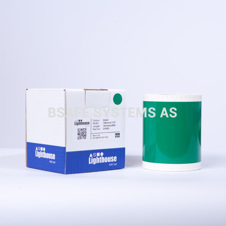 Vinylfolie CPM grønn CPM03 : Bsafe Systems AS