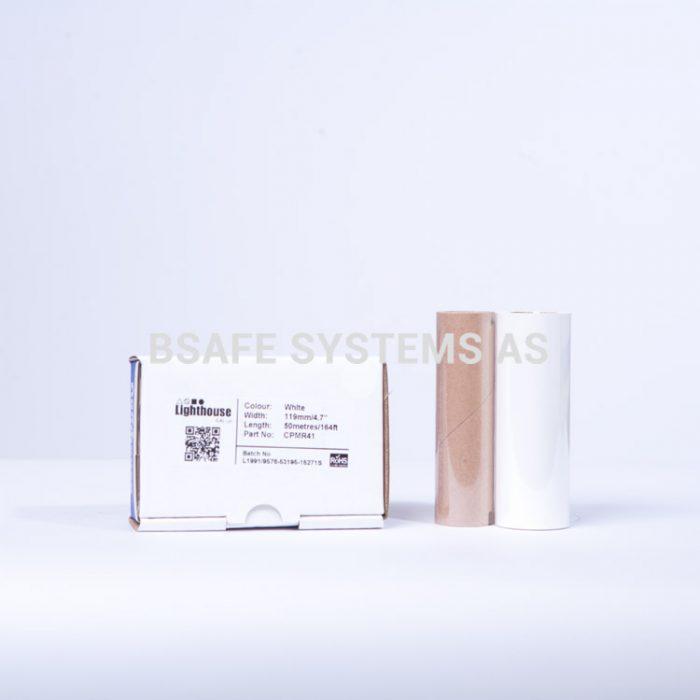 Fargebånd hvit refill CPM-100 : CPMR41 : Bsafe Systems AS