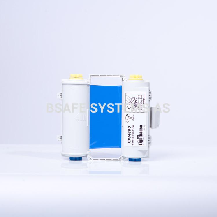 Fargebånd blå polyester med holder CPM-100 : CPMR43-RC : Bsafe Systems AS