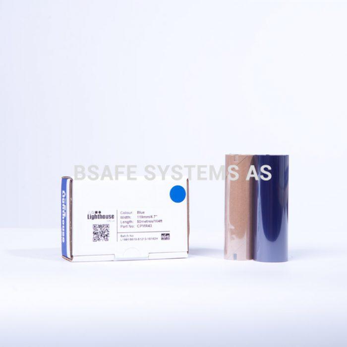 Fargebånd blå refill CPM-100 : CPMR43 : Bsafe Systems AS