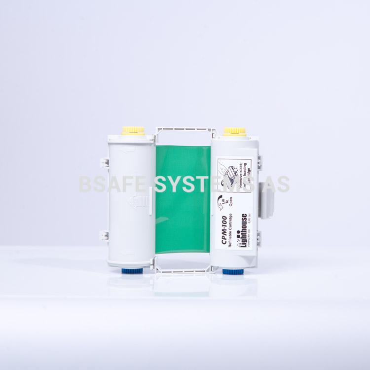 Fargebånd grønn polyester med holder CPM-100 : CPMR44-RC : Bsafe Systems AS